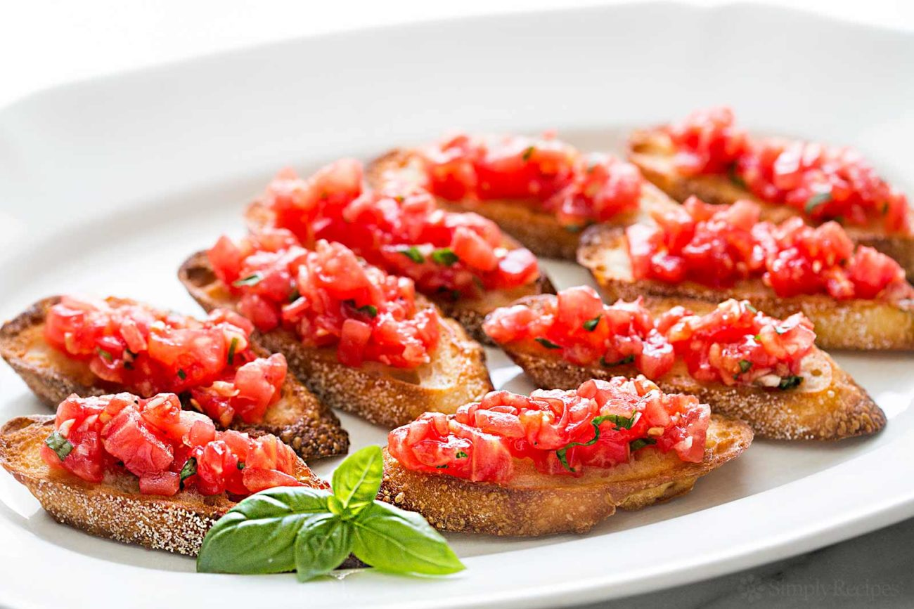 Bruschetta with Geramin La brie's Santorini Mix