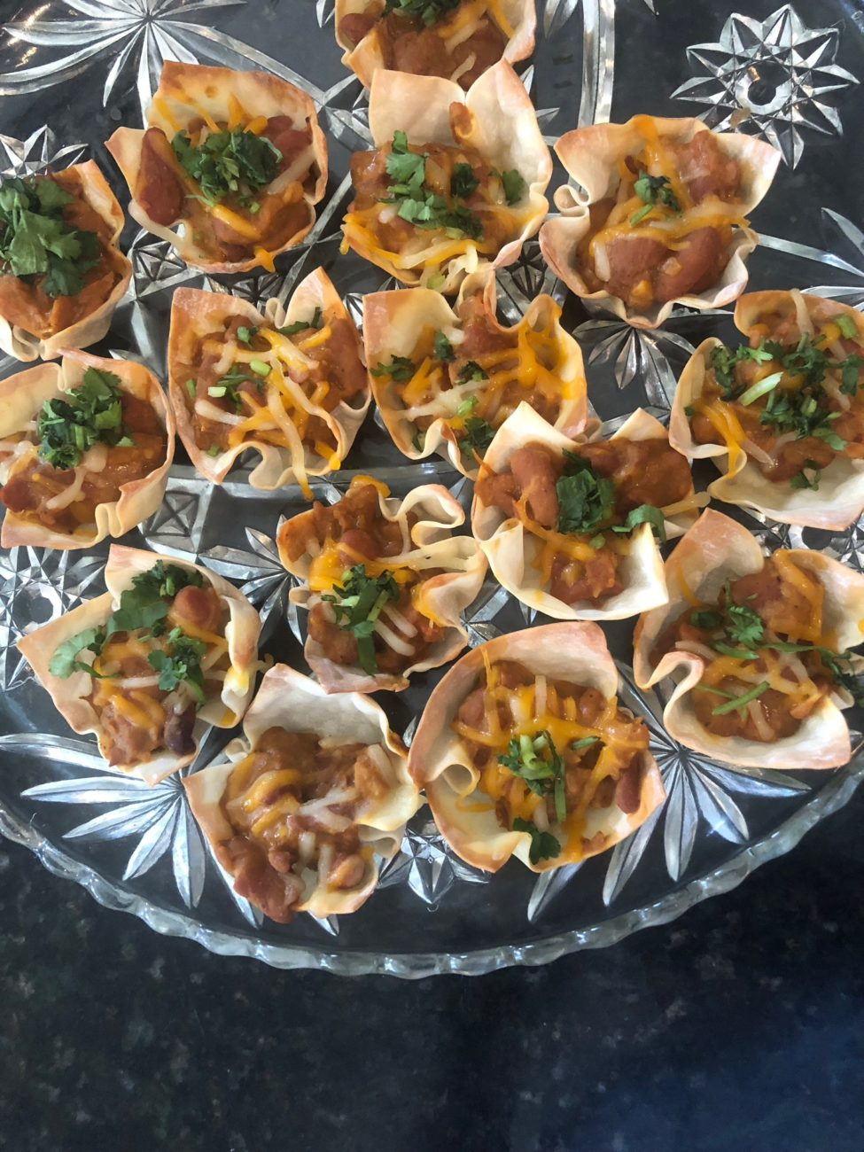Taco cups with kidney beans (rajmah) with Geramin La Brie's Garam Masala